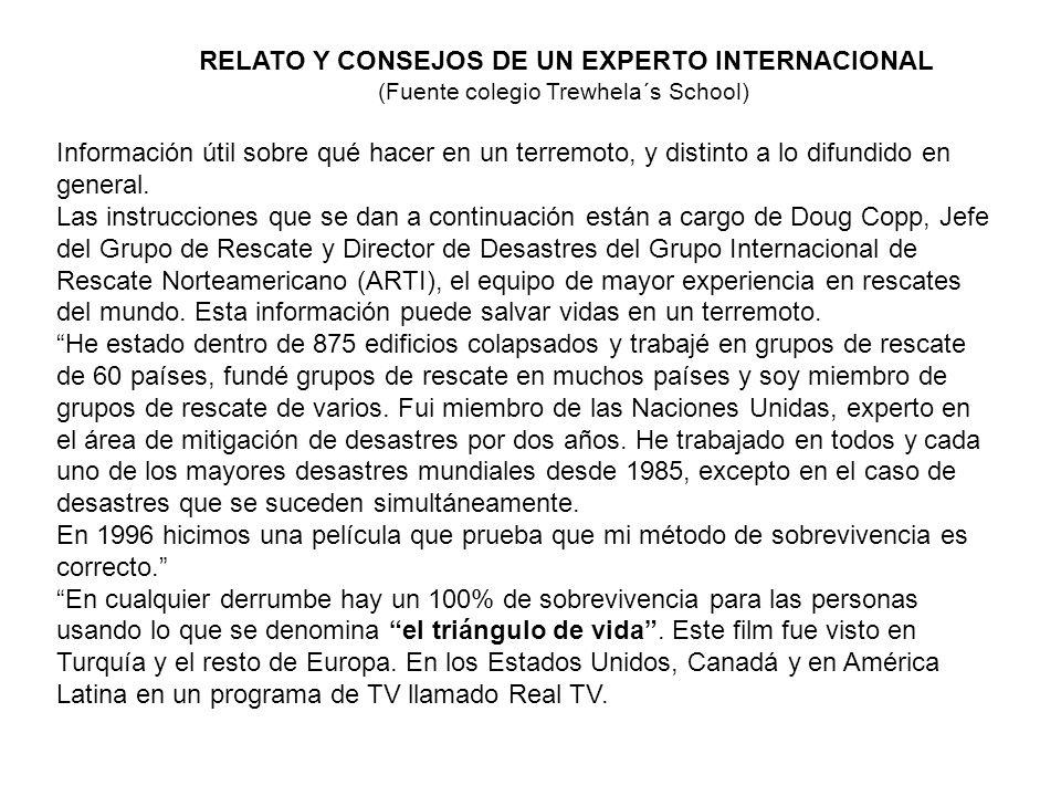 RELATO Y CONSEJOS DE UN EXPERTO INTERNACIONAL