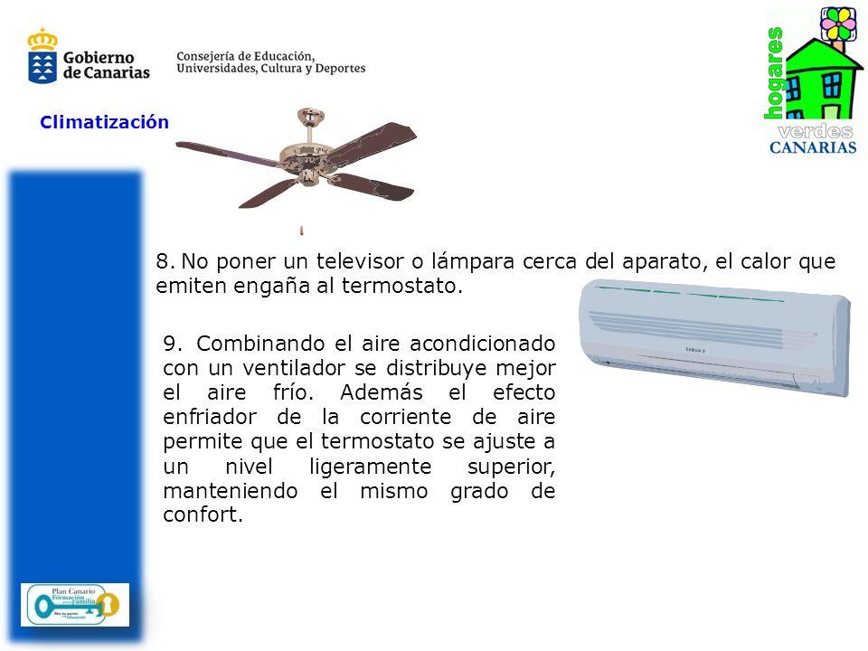 Climatización No poner un televisor o lámpara cerca del aparato, el calor que emiten engaña al termostato.