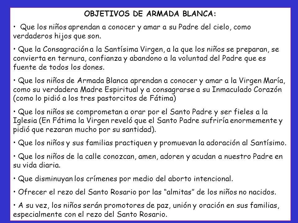 OBJETIVOS DE ARMADA BLANCA: