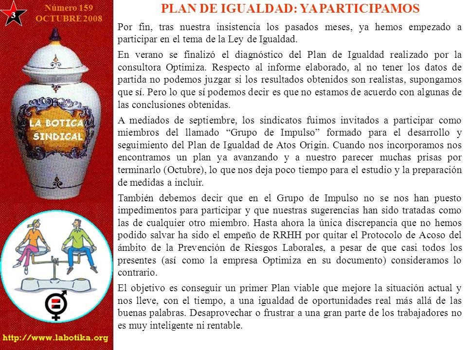 PLAN DE IGUALDAD: YA PARTICIPAMOS