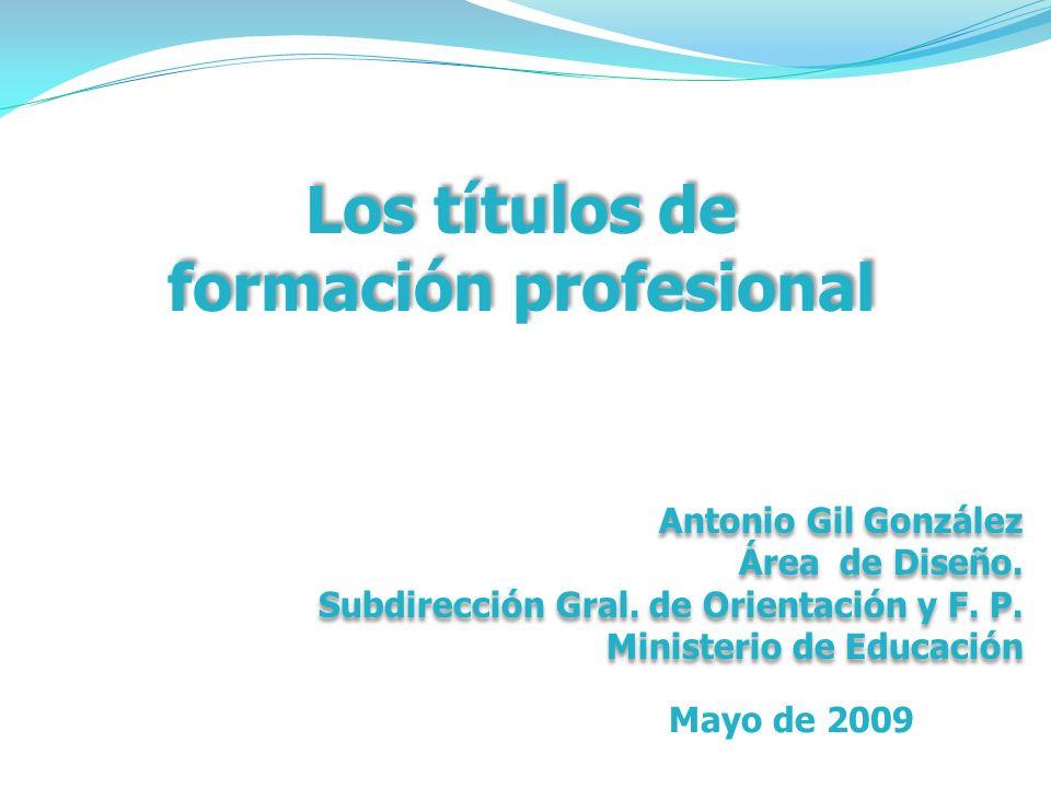 Los títulos de formación profesional