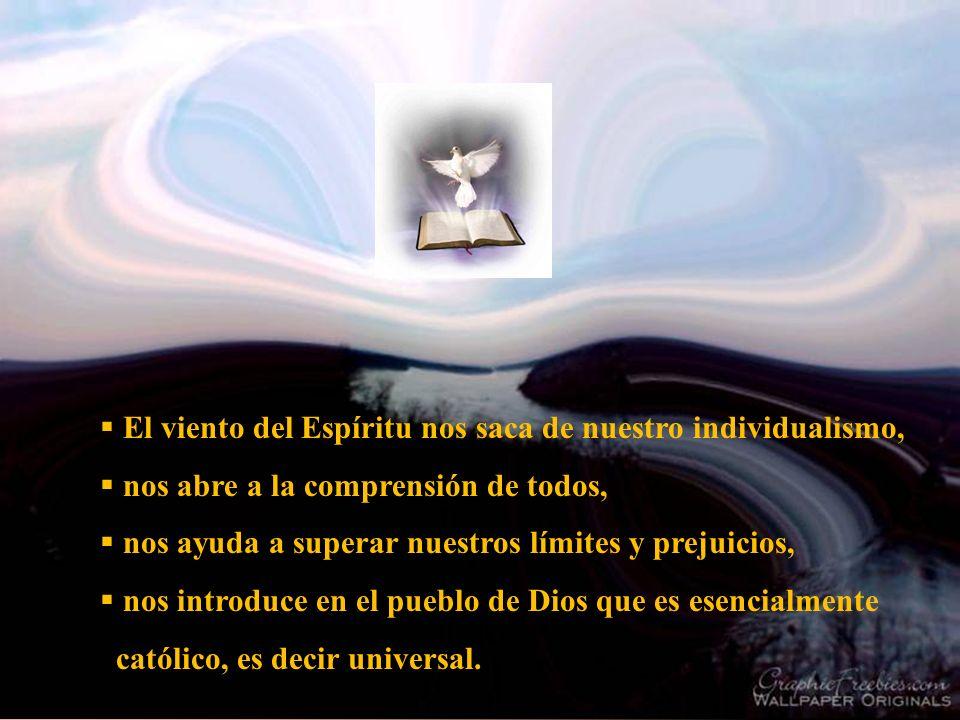 El viento del Espíritu nos saca de nuestro individualismo,