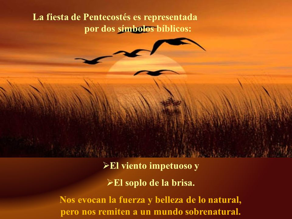 La fiesta de Pentecostés es representada por dos símbolos bíblicos: