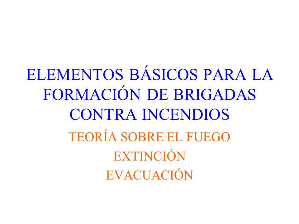ELEMENTOS BÁSICOS PARA LA FORMACIÓN DE BRIGADAS CONTRA INCENDIOS