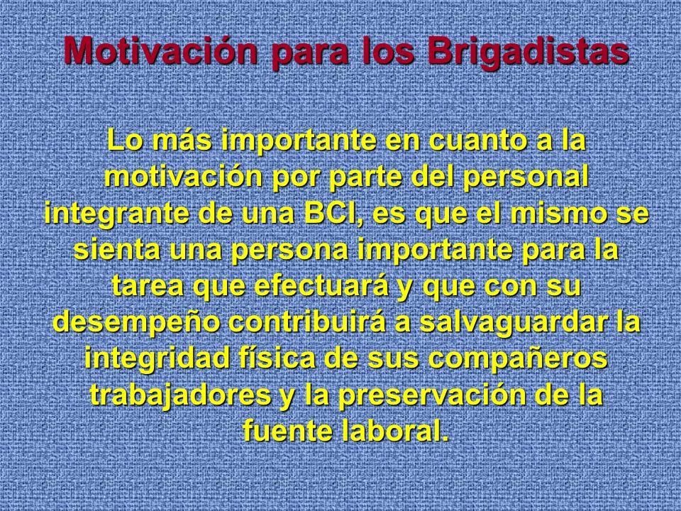Motivación para los Brigadistas
