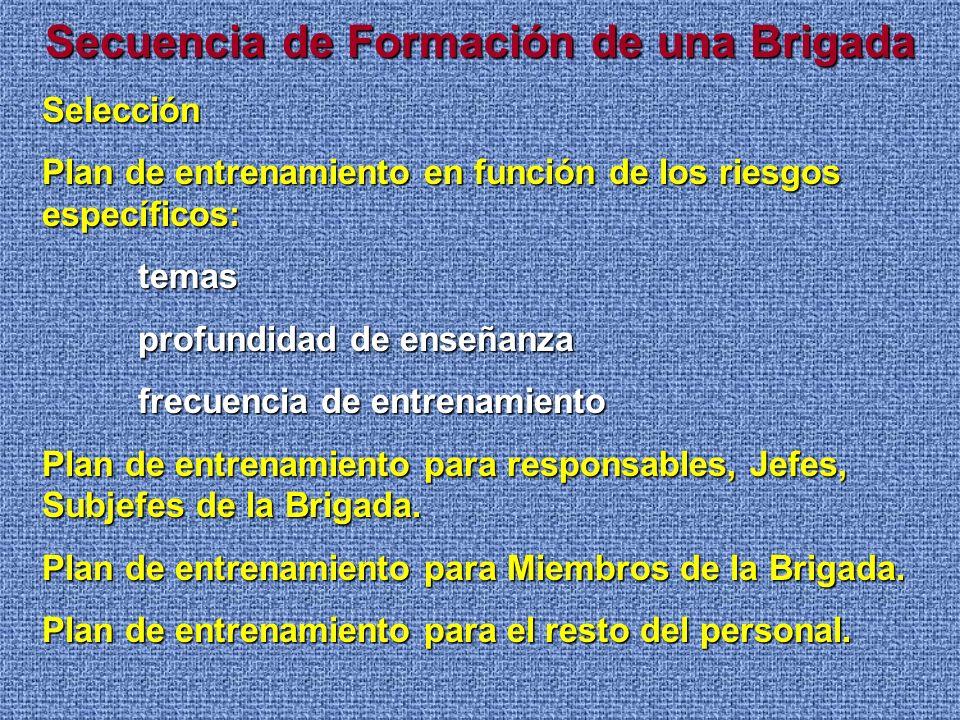 Secuencia de Formación de una Brigada