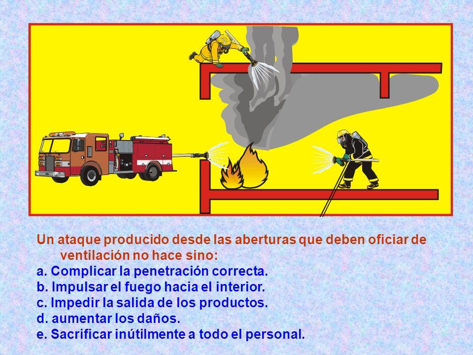 Un ataque producido desde las aberturas que deben oficiar de ventilación no hace sino: