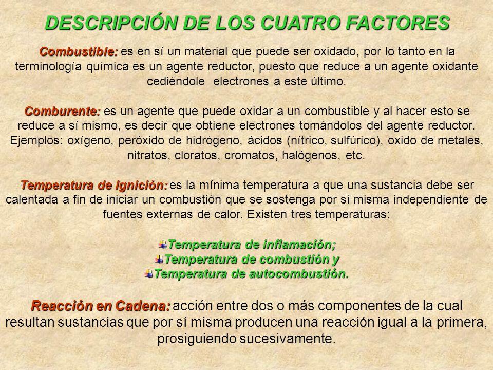 DESCRIPCIÓN DE LOS CUATRO FACTORES