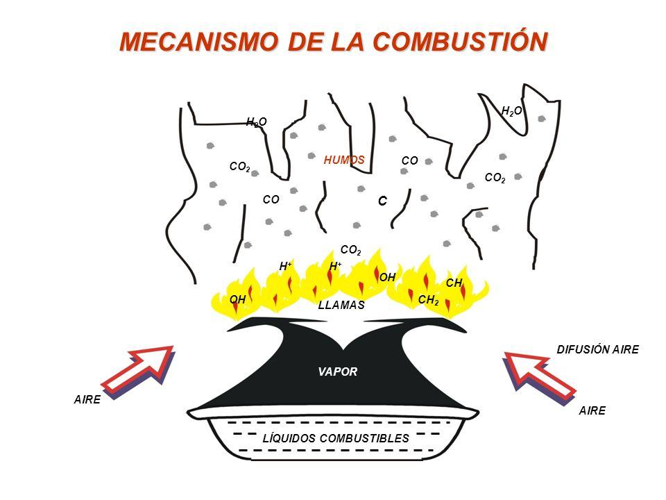 MECANISMO DE LA COMBUSTIÓN
