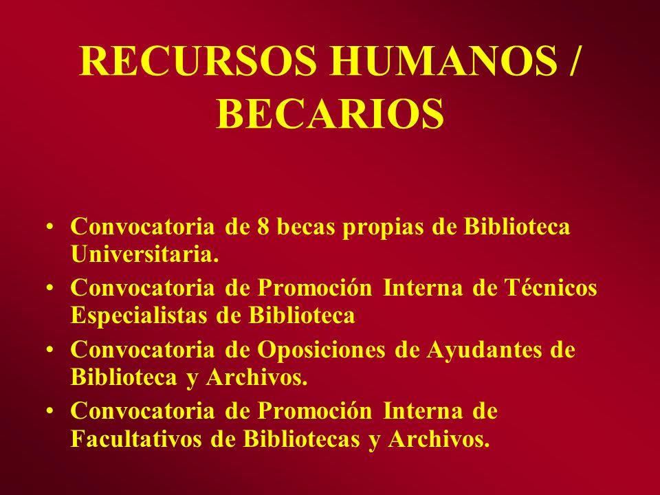 RECURSOS HUMANOS / BECARIOS