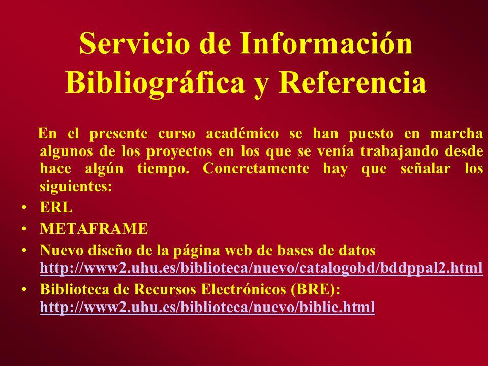 Servicio de Información Bibliográfica y Referencia