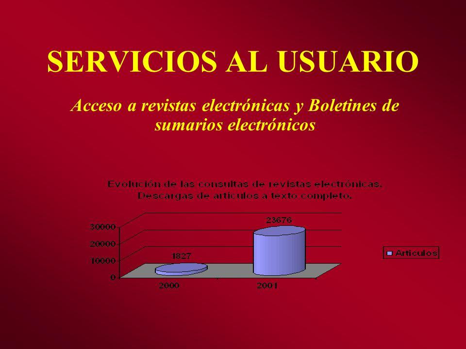 Acceso a revistas electrónicas y Boletines de sumarios electrónicos