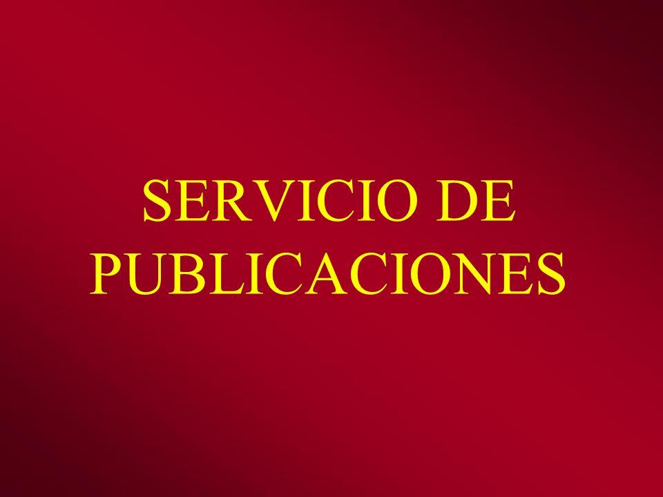 SERVICIO DE PUBLICACIONES