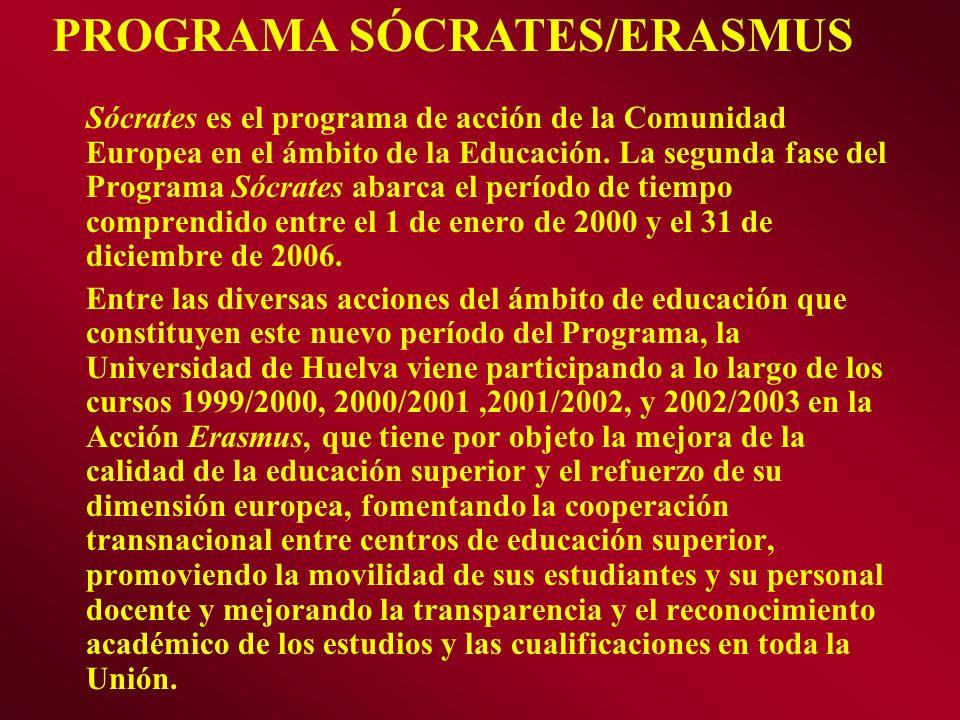 PROGRAMA SÓCRATES/ERASMUS