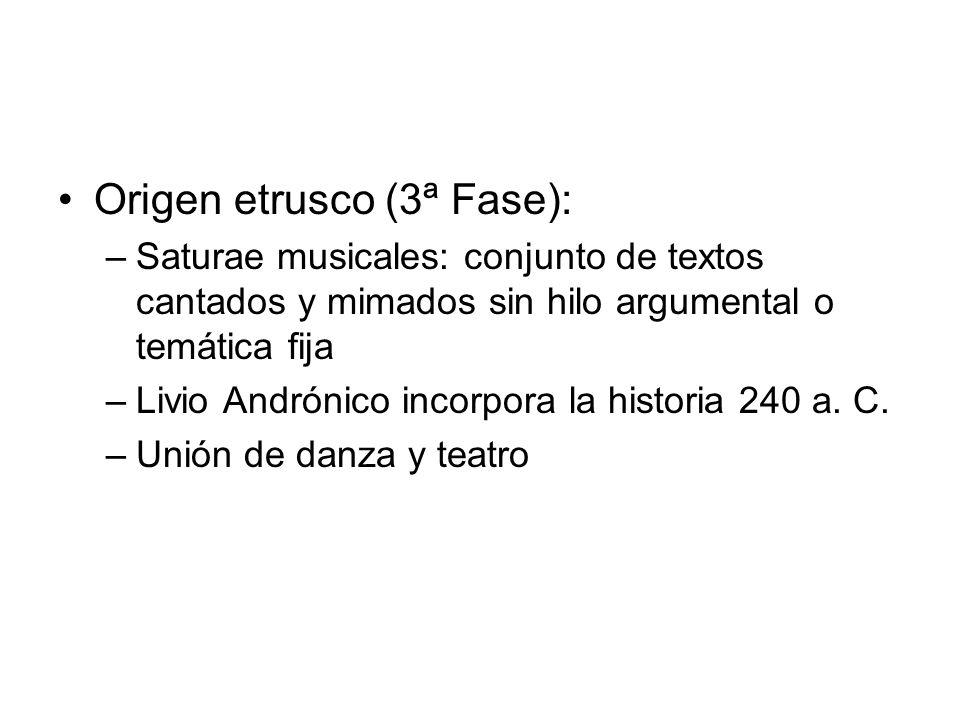 Origen etrusco (3ª Fase):