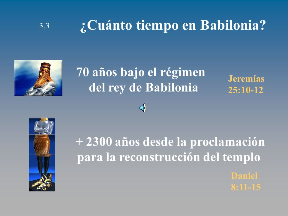 + 2300 años desde la proclamación para la reconstrucción del templo