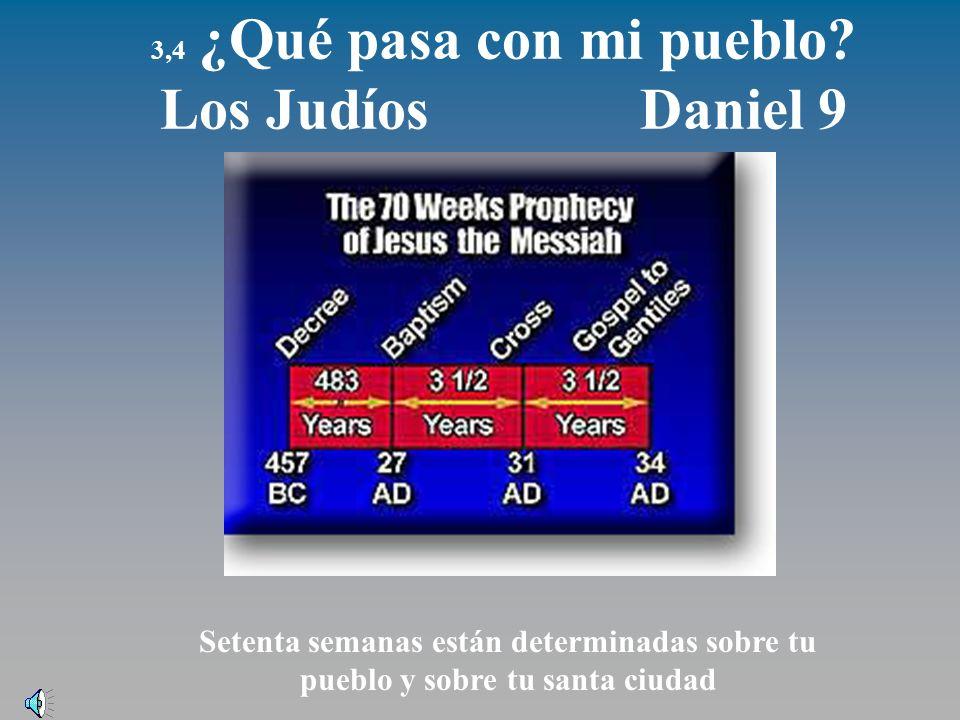 3,4 ¿Qué pasa con mi pueblo Los Judíos Daniel 9