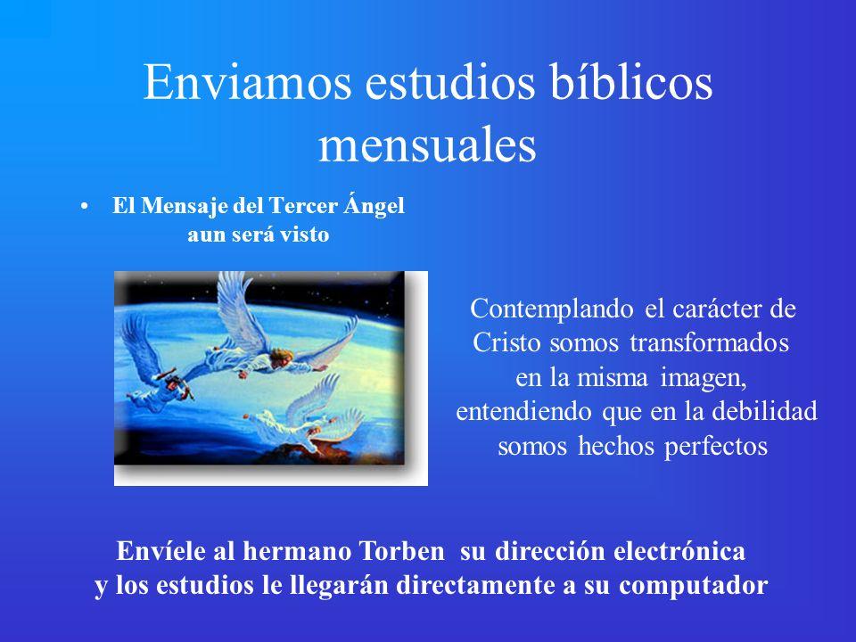 Enviamos estudios bíblicos mensuales