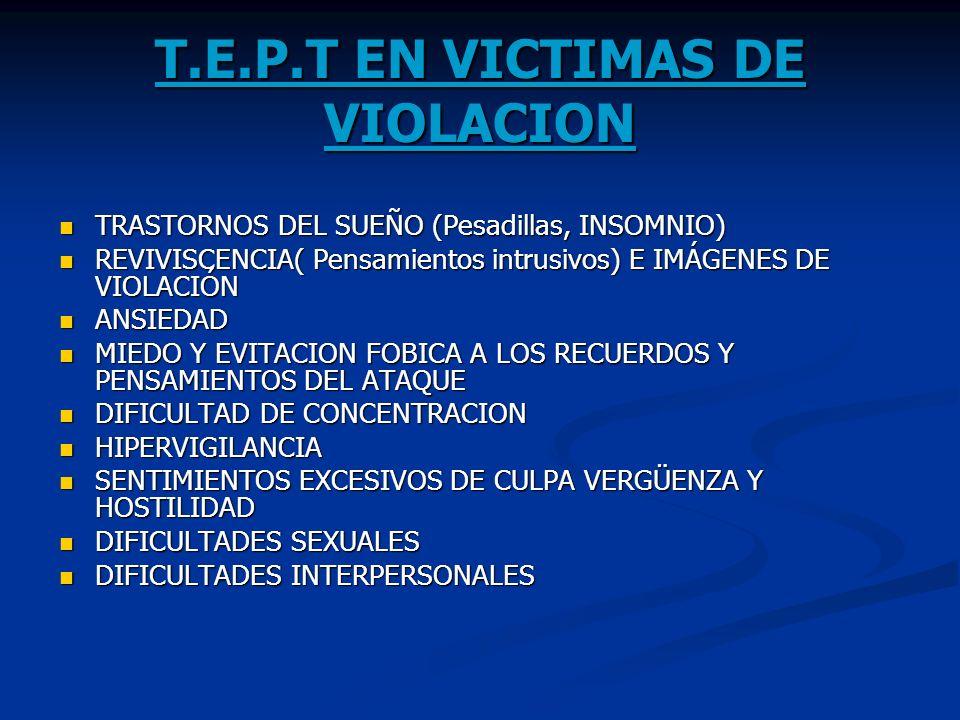 T.E.P.T EN VICTIMAS DE VIOLACION