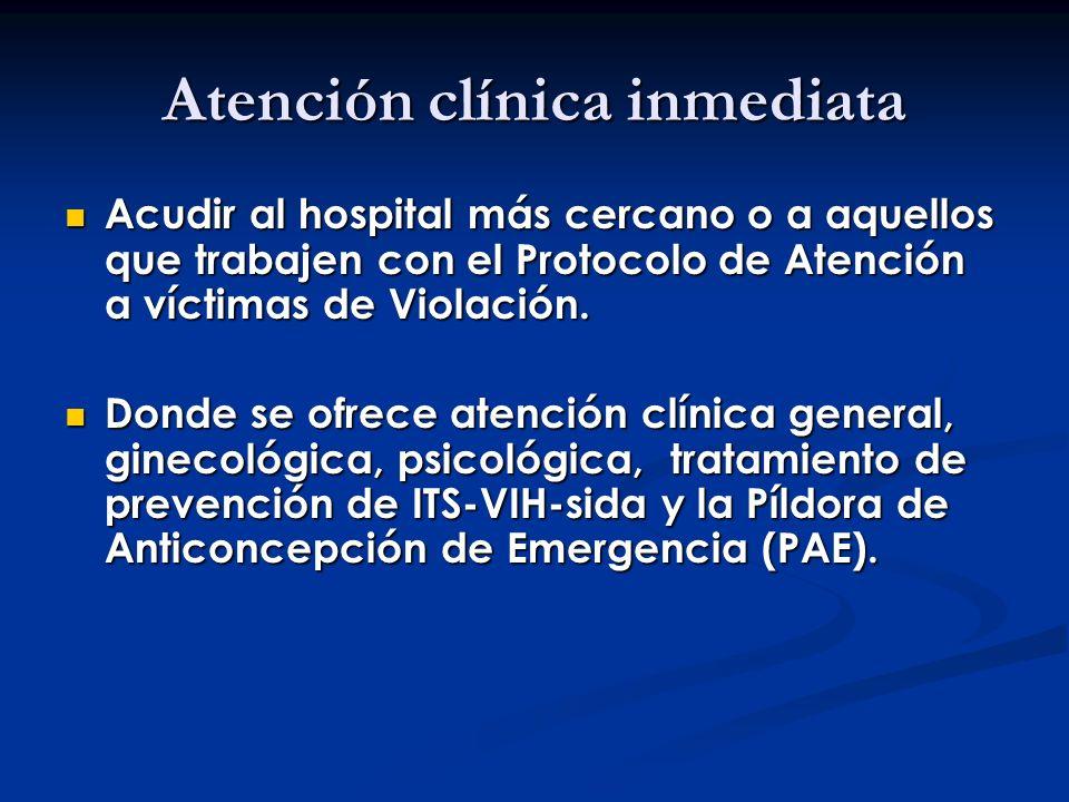 Atención clínica inmediata
