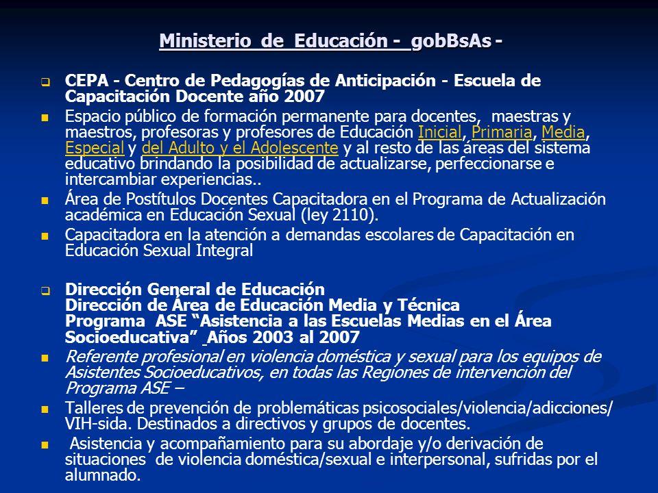 Ministerio de Educación - gobBsAs -