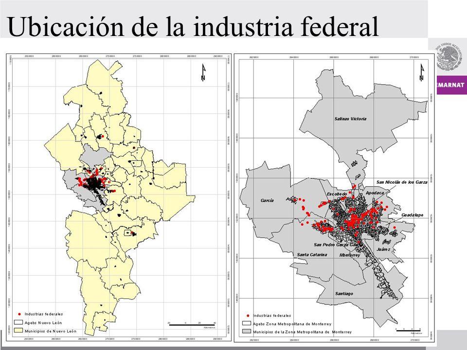 Ubicación de la industria federal