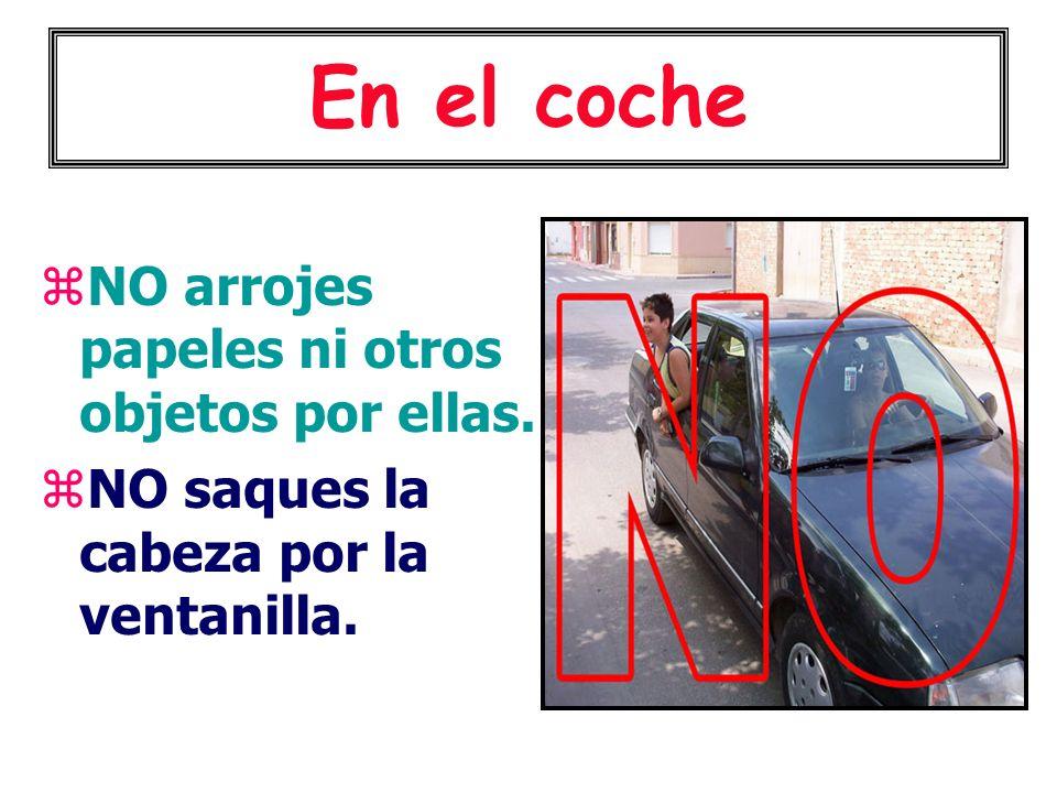 En el coche NO arrojes papeles ni otros objetos por ellas.