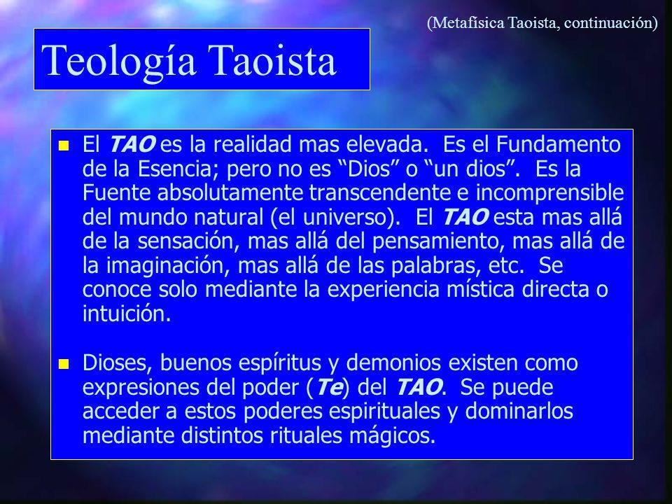 (Metafísica Taoista, continuación)