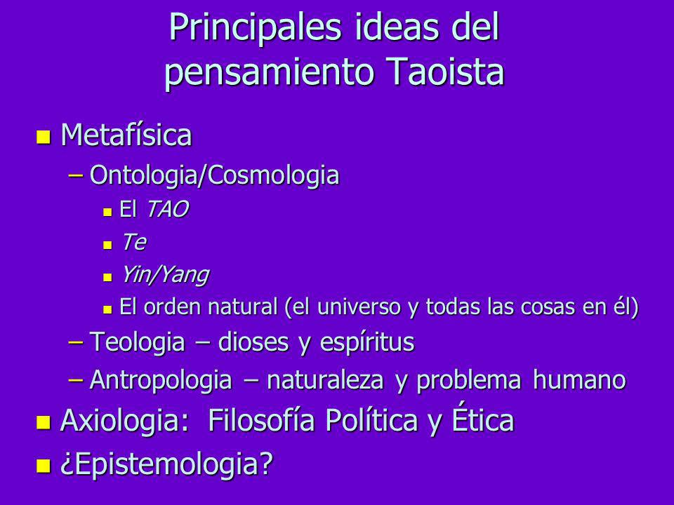Principales ideas del pensamiento Taoista