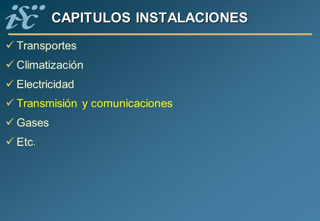 CAPITULOS INSTALACIONES