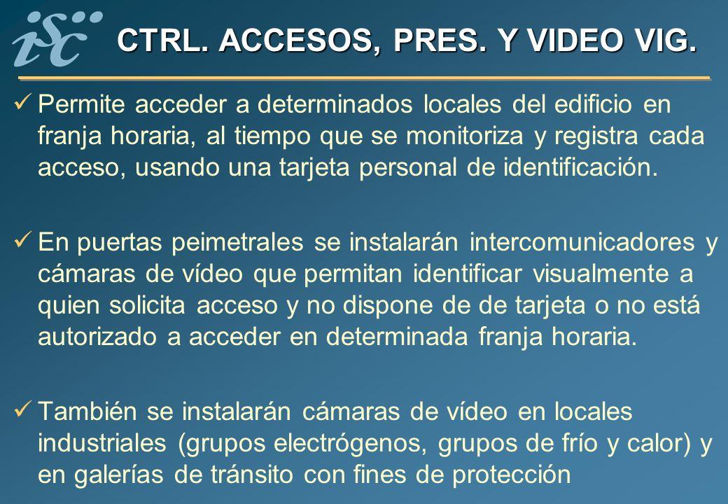 CTRL. ACCESOS, PRES. Y VIDEO VIG.