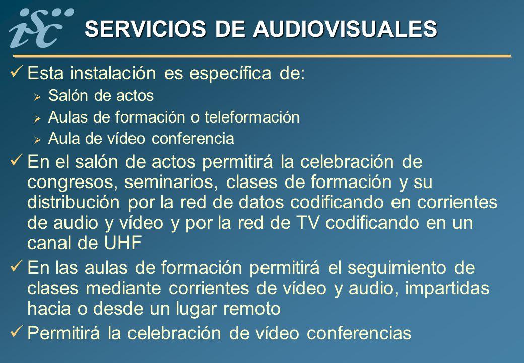 SERVICIOS DE AUDIOVISUALES