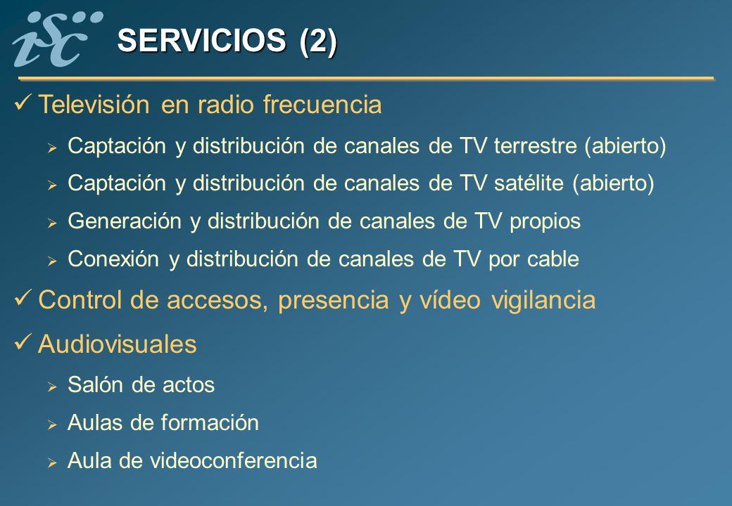 SERVICIOS (2) Televisión en radio frecuencia