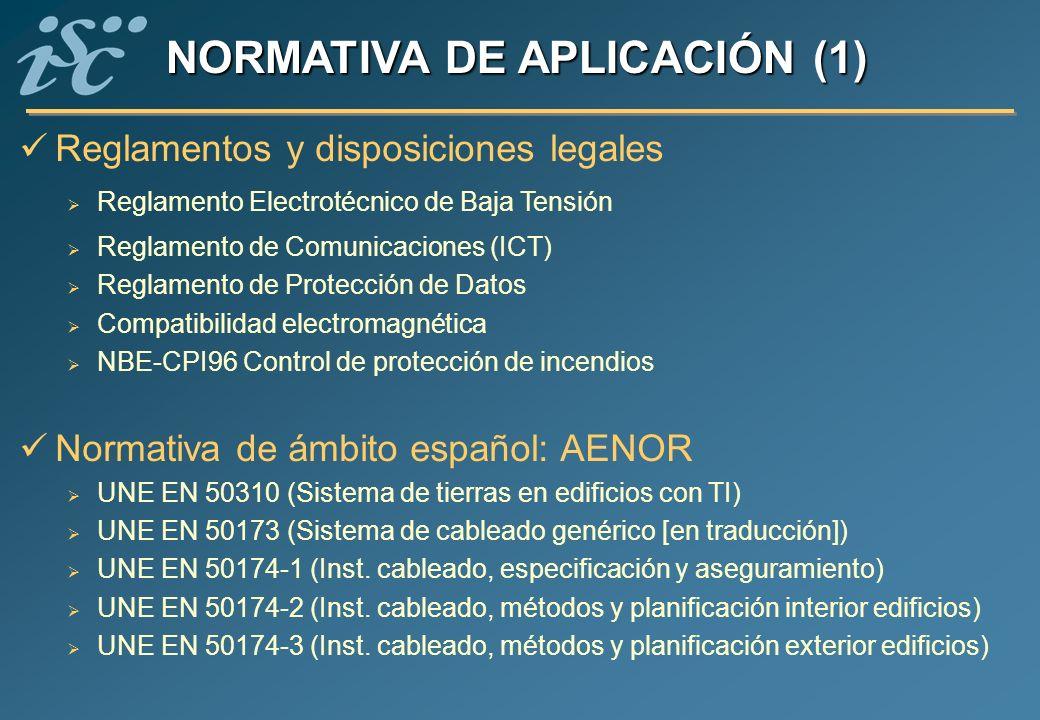 NORMATIVA DE APLICACIÓN (1)