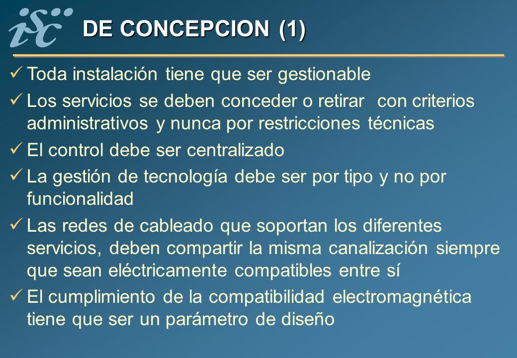 DE CONCEPCION (1) Toda instalación tiene que ser gestionable