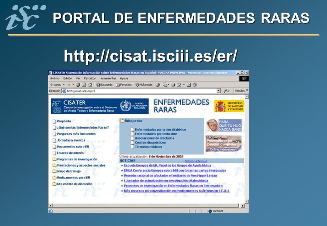 PORTAL DE ENFERMEDADES RARAS
