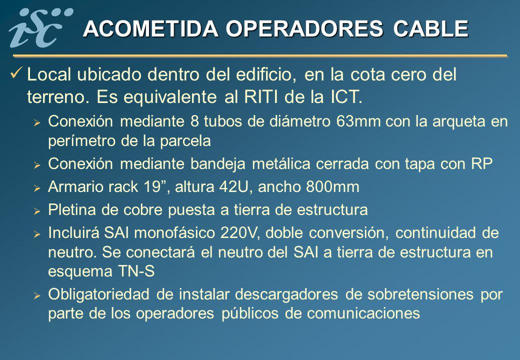 ACOMETIDA OPERADORES CABLE