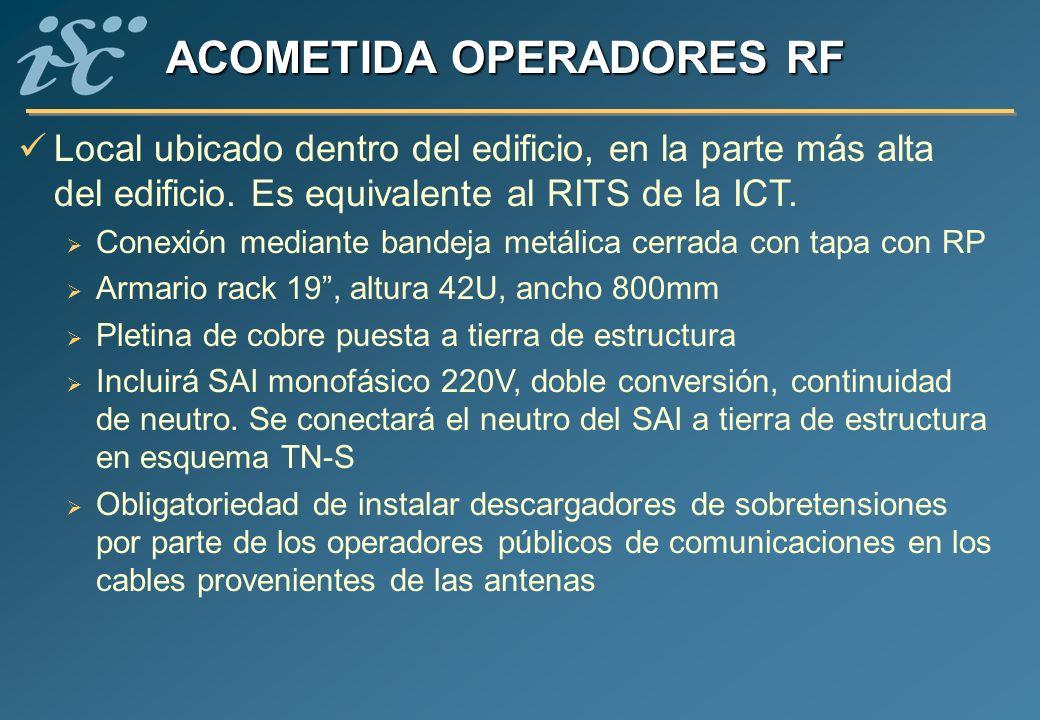 ACOMETIDA OPERADORES RF