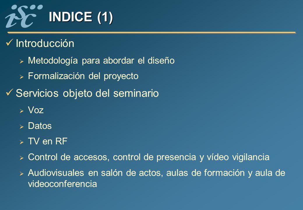 INDICE (1) Introducción Servicios objeto del seminario