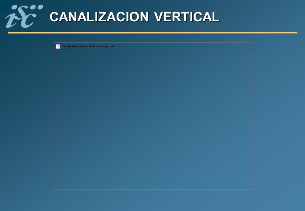 CANALIZACION VERTICAL