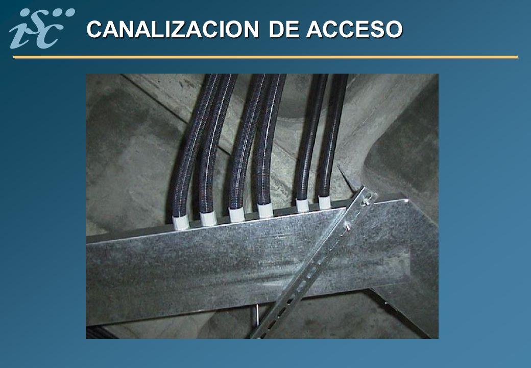 CANALIZACION DE ACCESO