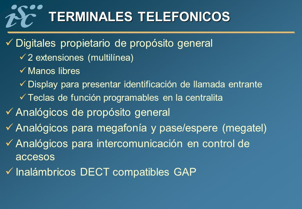 TERMINALES TELEFONICOS