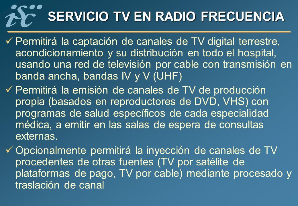 SERVICIO TV EN RADIO FRECUENCIA