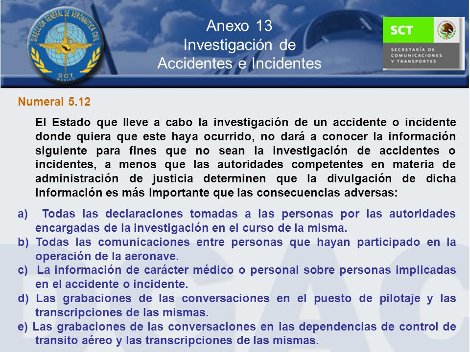 Anexo 13 Investigación de Accidentes e Incidentes