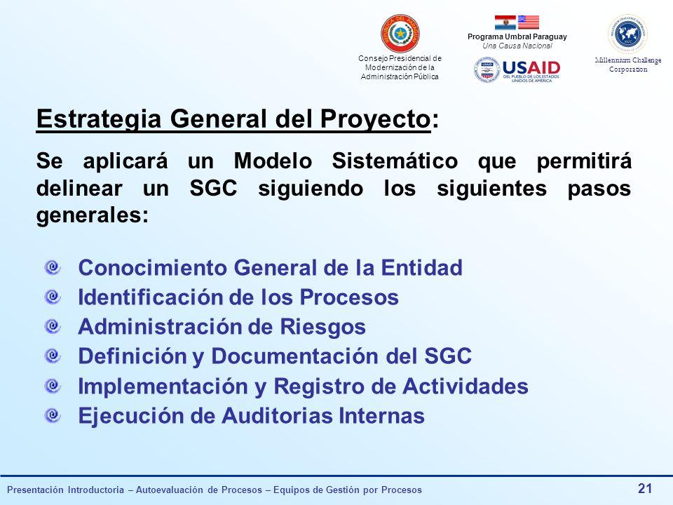 Estrategia General del Proyecto: