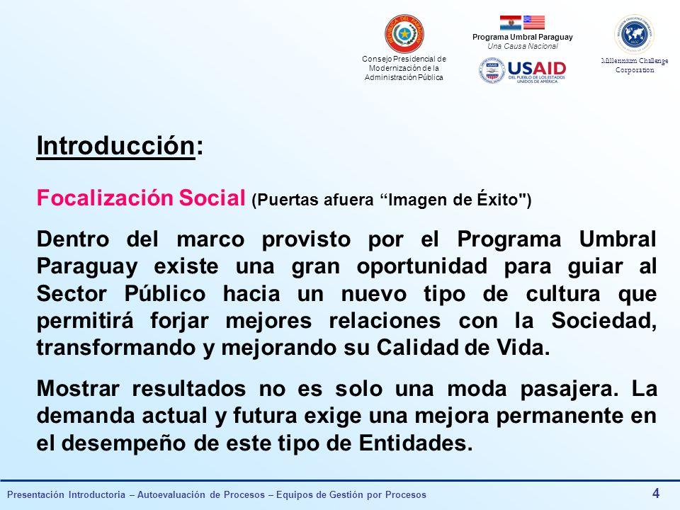 Introducción: Focalización Social (Puertas afuera Imagen de Éxito )