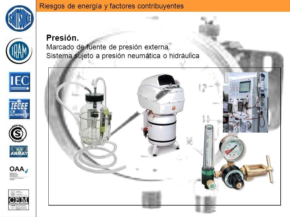 Presión. Riesgos de energía y factores contribuyentes