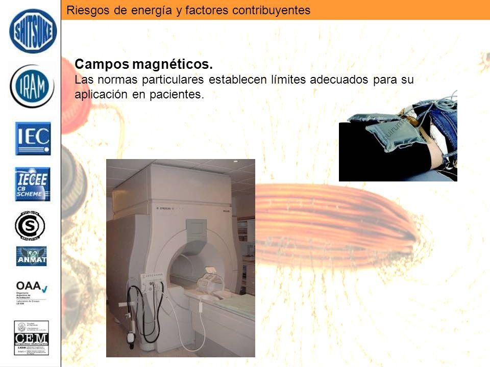 Campos magnéticos. Riesgos de energía y factores contribuyentes