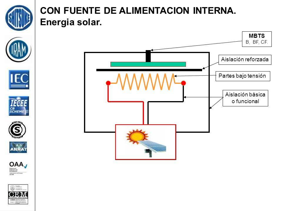 CON FUENTE DE ALIMENTACION INTERNA. Energia solar.