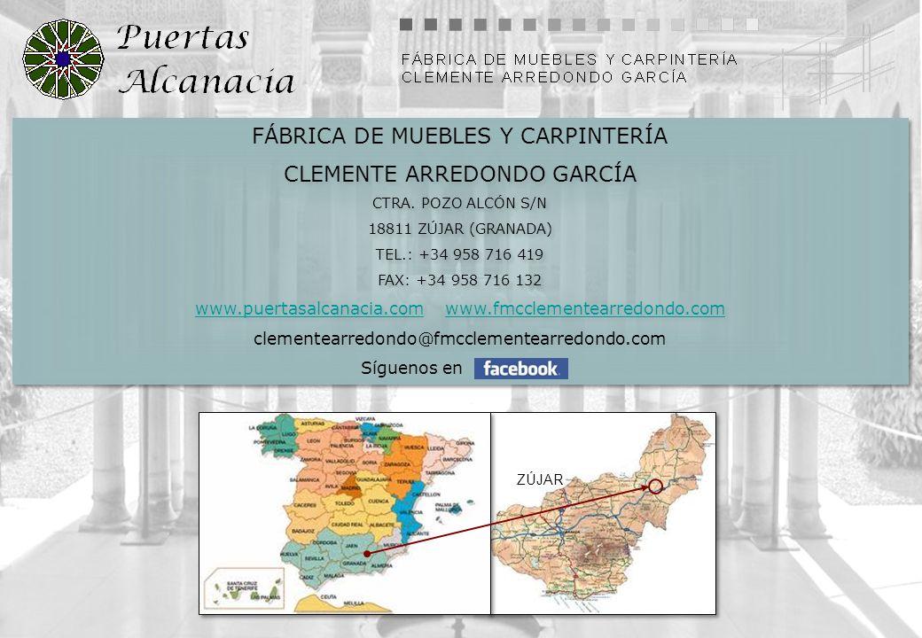 FÁBRICA DE MUEBLES Y CARPINTERÍA CLEMENTE ARREDONDO GARCÍA